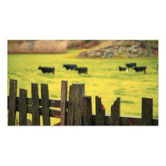 Farm scene business card