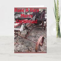 Farm Scene Christmas Card by Vibeli