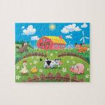 Farm scene puzzles
