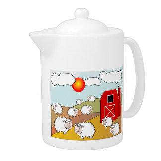 Farm Scene Teapot