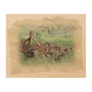 Farm Scene Wood Wall Art