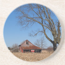 Farm Series---Old Barn on a Farm Drink Coaster