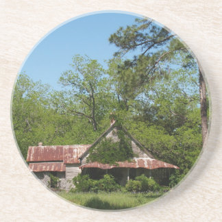 Farm Series---Weathered Historic Home in GA Drink Coaster