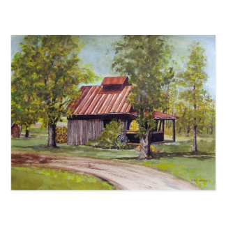 Farm Shed- postcard