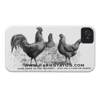 Farm Stay Chickens - iPhone 4 Case