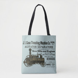 Farm Steam Traction Engine Farming 1889 Ad Steam Tote Bag