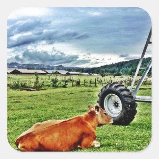 farm square sticker