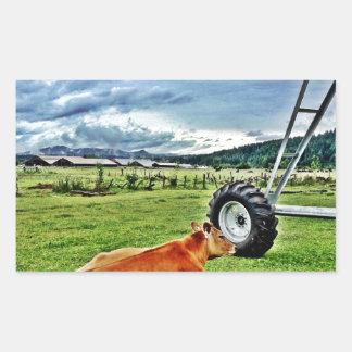 farm rectangle stickers