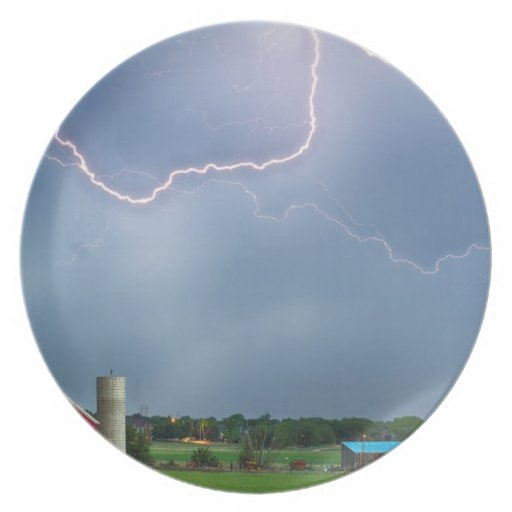 Farm Storm HDR Party Plate