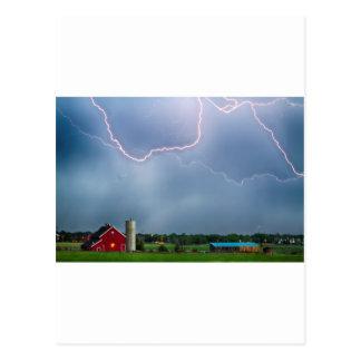 Farm Storm HDR Post Card