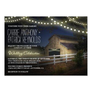 rusticweddings Farm String Lights Rustic Barn Wedding Invitations