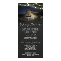 Farm String Lights Rustic Barn Wedding Programs