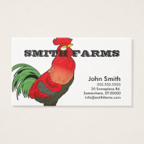 Farm style business card template.