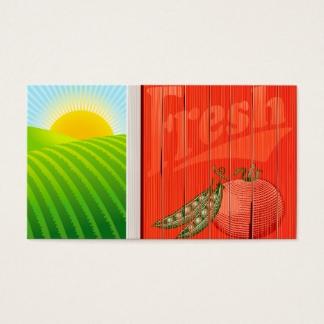 Fresh Produce Farm Fields Business Cards