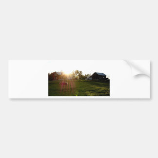 Farm Sunset Bumper Sticker