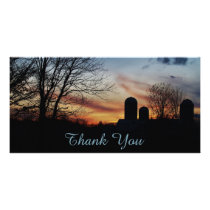 Farm Sunset Card