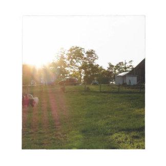 Farm Sunset Note Pad