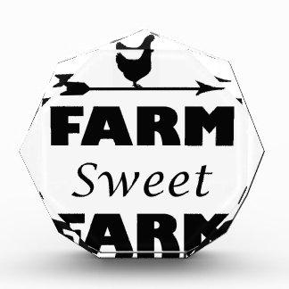 farm sweet farm acrylic award