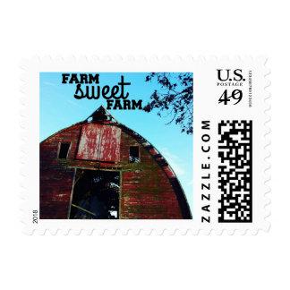 Farm Sweet Farm Old Barn Postage Stamps