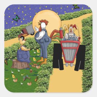 Farm Talk Square Sticker