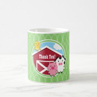Farm Theme Baby Shower; Bright Green Ovals Classic White Coffee Mug