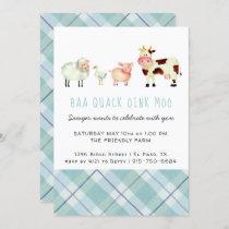 Farm Theme Birthday Party Invitation