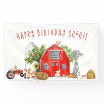 Farm Theme Birthday Party Welcome Banner