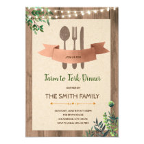 Farm to fork dinner party invitation