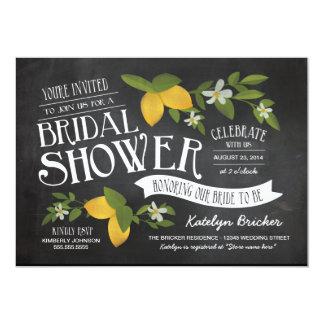 Farm to Table Chalkboard Bridal Shower Invites