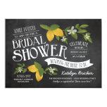"Farm to Table Chalkboard Bridal Shower Invites 5"" X 7"" Invitation Card"