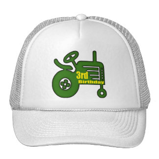 Farm Tractor 3rd Birthday Gifts Trucker Hat