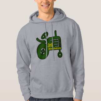 Farm Tractor 3rd Birthday Gifts Hoodie