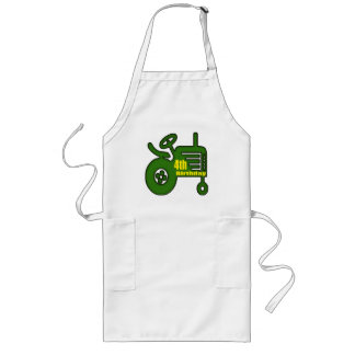 Farm Tractor 4th Birthday Gifts Long Apron