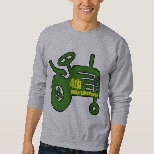 Farm Tractor 4th Birthday Gifts Sweatshirt