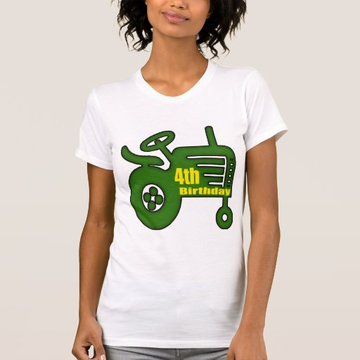 Farm Tractor 4th Birthday Gifts T Shirts