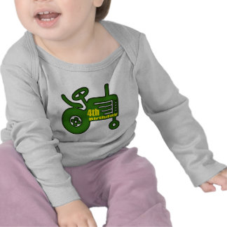 Farm Tractor 4th Birthday Gifts Shirts