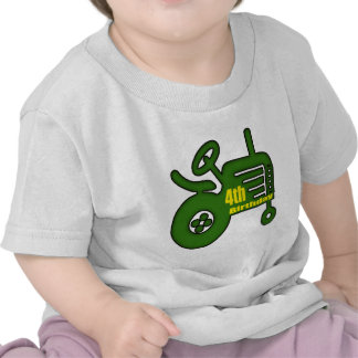 Farm Tractor 4th Birthday Gifts T-shirts