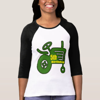 Farm Tractor 5th Birthday Gifts T-shirts
