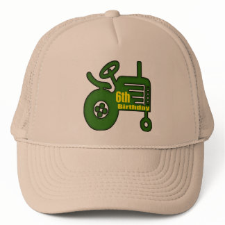 Farm Tractor 6th Birthday Gifts Trucker Hat