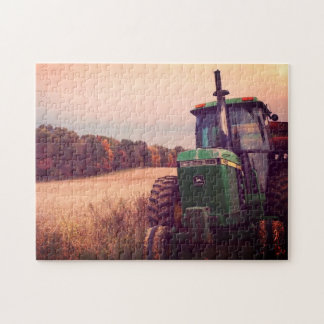 Farm Tractor at Fall Harvest Jigsaw Puzzle