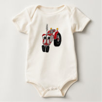 Farm Tractor Baby One-Piece Shirt
