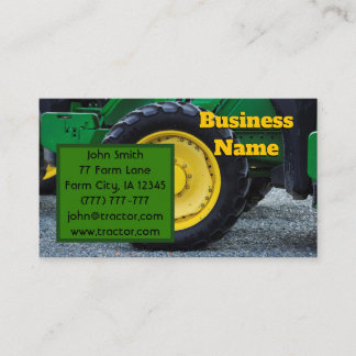 Farm Tractor Business Card