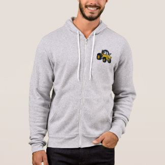 Farm Tractor Cartoon Character Hoodie