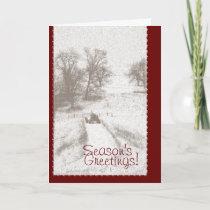 Farm Tractor Christmas Card
