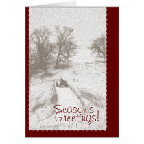 Farm Tractor Christmas Card