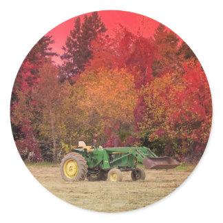 Farm Tractor Classic Round Sticker