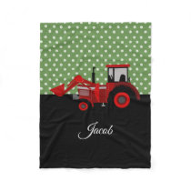 Farm Tractor Fleece Blanket