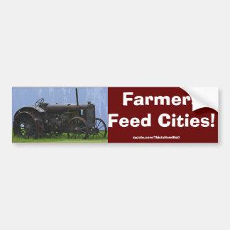 Farm Tractor Heavy Machine Transport Work Vehicle Bumper Sticker