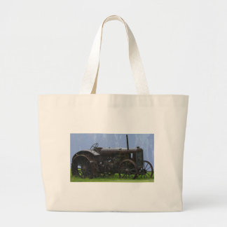 Farm Tractor Heavy Machine Transport Work Vehicle Large Tote Bag