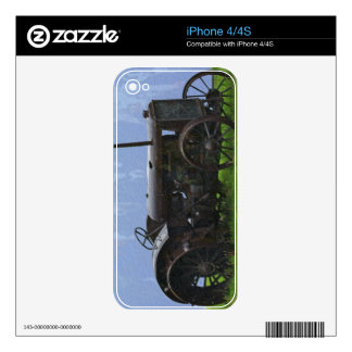 Farm Tractor Heavy Machine Transport Work Vehicle Decal For The iPhone 4
